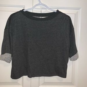 cotton cropped shirt by H&M